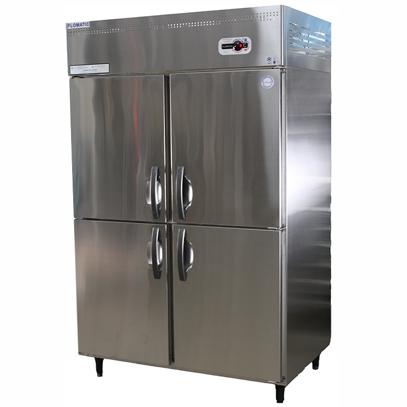 Upright 4 Door Chiller & Freezer | Flomatic Industries Commercial Refrigeration