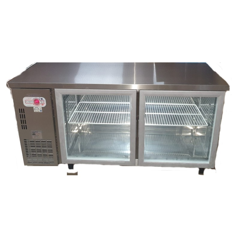 Undercounter 2 Door Glass Refrigerator | Commercial Chillers & Freezers