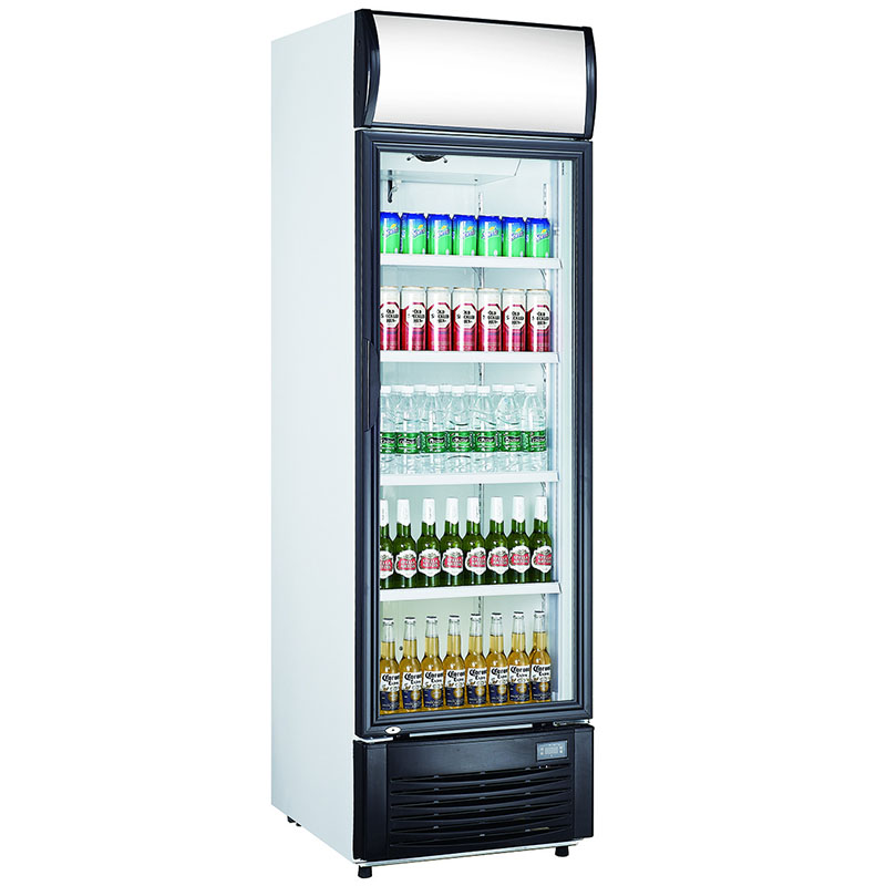 Fan Assisted Single Glass Door Refrigerator | Upright Chillers & Freezers
