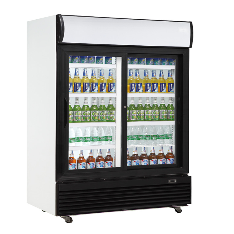 Fan Assisted Sliding Glass Door Refrigerator | Upright Chillers & Freezers